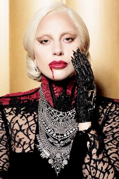 "gagasgallery: """"Lady Gaga as 'The Countess' by Michael Avedon for Entertainment Weekly."" """