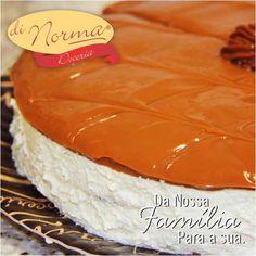 Pavê Moça: Saboroso creme de chocolate branco. Cobertura de doce de leite especial. #love #DiNorma #cake #curta #siga e #compartilhe