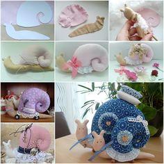 How to Make Cute Fabric Snail Pillow | www.FabArtDIY.com
