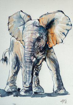 Elelphant baby by kovacsannabrigitta on DeviantArt