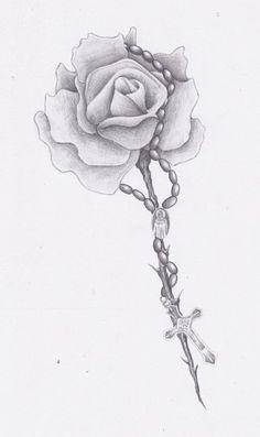 rose and rosary tattoo by levilambert on deviantart dreamcatcher pinterest deviantart and. Black Bedroom Furniture Sets. Home Design Ideas