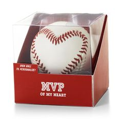 Hallmark's Heart-Stitched Baseball - Valentine's Day Gift perfect for a baseball lover and autograph with your own message.