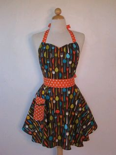 This apron is being made with love. For my love for contemporary and retro. By: Ashley Casey