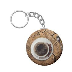 Cup of coffee coffeemania keychain - christmas keychains family merry xmas personalize gift idea