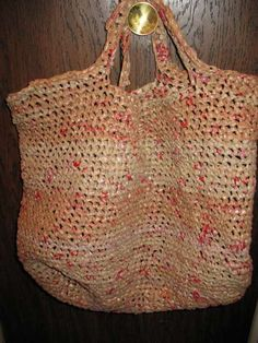 How to crochet a bag from plastic grocery bags.