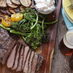 Grilled Steak with Blue Cheese, Potatoes, and Broccolini - Allrecipes.com