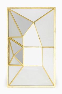 Elizabeth Garouste; Gold leaf, iron and Glass Wall Mirror for Mouvements Modernes, 2007.
