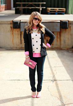 Black, Pink, Dots| Mix & Match Fashion