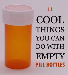 11 Cool Things You Can Do With Empty Pill Bottles is part of Upcycled Crafts Reuse Pill Bottles - If you're like me and have a few empty pill bottles lying around, then this list of 11 DIY uses for empty pill bottles is for you! Empty Medicine Bottles, Medicine Bottle Crafts, Reuse Pill Bottles, Pill Bottle Crafts, Recycled Bottles, Bottles And Jars, Empty Bottles, Plastic Jar Crafts, Plastic Bottle Reuse