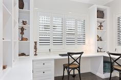 Hamptons Style Study - Just Wardrobes & Storage Diy Home Office Furniture, Home Office Storage, Home Office Design, Home Office Decor, Home Decor, Furniture Storage, Office Ideas, Die Hamptons, Hamptons Style Decor