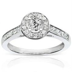 @Overstock - Round-cut diamond engagement ring14-karat white gold jewelry Click here for ring sizing guidehttp://www.overstock.com/Jewelry-Watches/14k-White-Gold-3-4ct-TDW-Diamond-Engagement-Ring-H-I-I1-I2/6150615/product.html?CID=214117 $871.19