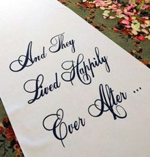 http://diyweddingplanner.hubpages.com/hub/How-To-Make-A-Monogrammed-Aisle-Runner-For-Your-Wedding