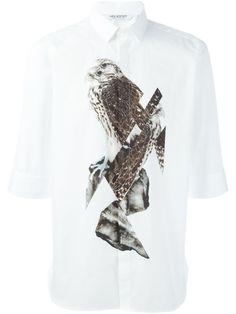 Neil Barrett bird print shirt