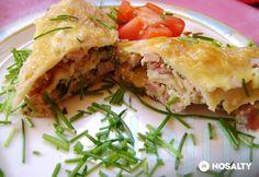 Zöldfűszeres-sonkás palacsinta Spanakopita, Quiche, Tacos, Mexican, Breakfast, Ethnic Recipes, Food, Morning Coffee, Essen