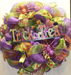 Trick or Treat Halloween Mesh Wreath