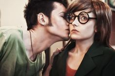 Daria and Trent kiss - Daria cosplay by LuckyStrike-cosplay.deviantart.com on @deviantART