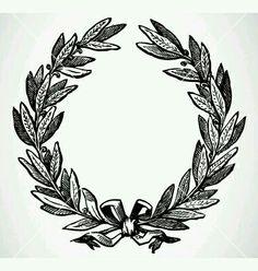 VintageFeedsacks – black and white wreath graphic – Laurel Wreath İdeas. Crown Drawing, Wreath Drawing, Diy Image, Crown Illustration, Decoupage, Olive Wreath, Vintage Wreath, Laurel Wreath, Frame Wreath