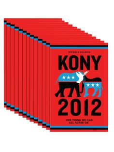 If you don't know who Kony is yet, you will, please find out.  We can do it together! Kony 2012! Pass it along and take action!