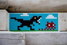 Pixelated Invasions Street-Art in Italy – streetart Murals Street Art, Graffiti Art, Banksy, Pixel Art, Ravenna Italy, Art Sculpture, Best Street Art, Italy Art, Wall Drawing