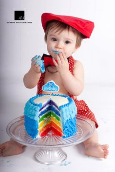 Time for our Valentine to smash his cake 1st Birthday Cake Smash, Sweet Treats, Crochet Hats, Rainbow, My Favorite Things, Desserts, Knitting Hats, Rain Bow, Tailgate Desserts