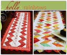 Holly & Rainbows table runners