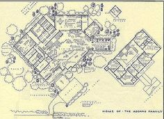 The Addams Family home at Cemetery Lane   Blueprints    Can    t decide between Wayne Manor and the Addams Family house