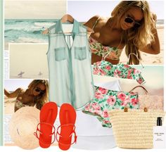 """""""Going To The Beach..."""" by bklana ❤ liked on Polyvore"""