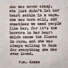She was never crazy...