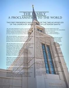 Family Proclamation and Temple