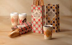 The task was to create the cosy identity for cafe-bakery with fresh morning coffee.