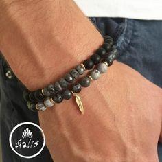 f01ef620355c Men s Bracelet Set - Men s Beaded Bracelet - Men s Cuff Bracelet - Men s  Jewelry - Men s Gift - Husband Gift - Present For Men - Boyfriend