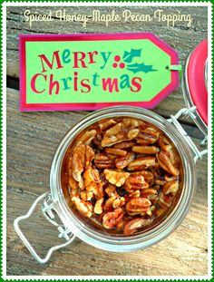The Weekend Gourmet: Holiday Gift Giving with Don Victor Honey...Featuring Spiced Honey-Maple Pecan Topping #HoneyForHolidays #ad