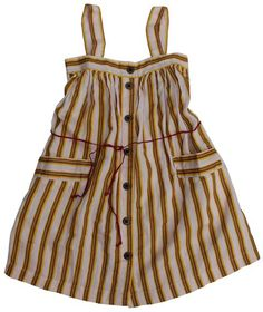Bellerose  striped dress pink yellow-it looks relatively easy to make...