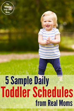 Stay-at-home moms were asked to share a sample daily toddler schedule. They shared all the details! Plus, free printable toddler schedules to use at home!