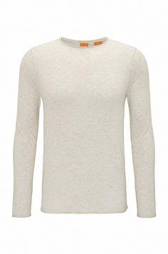5861628eed6a Pull Slim Fit en coton effet cachemire Blanc de BOSS Orange pour Hommes  pour 120