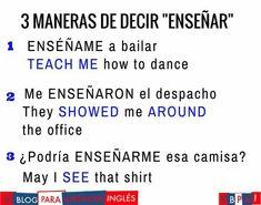 Spanish Phrases, Spanish Words, English Phrases, Spanish Lessons, English Words, English Lessons, English Grammar, Spanish Grammar, English Tips