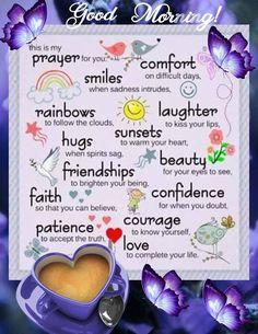 Good morning inspirational prayers