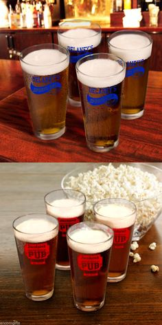 2 Guinness gold letters Used Pint Glass//Set of 2 Bar Pub Cafe Man Cave beer