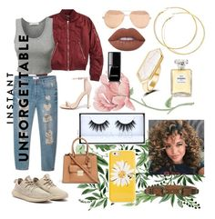 """""""Just chillin"""" by honeyddee on Polyvore featuring Topshop, MANGO, Liliana, Linda Farrow, Lime Crime, Chanel, Kate Spade, LE3NO, ADA Collection and Michael Kors"""