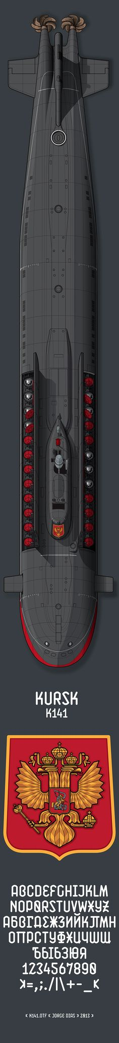 Submarine Kursk Typeface Project