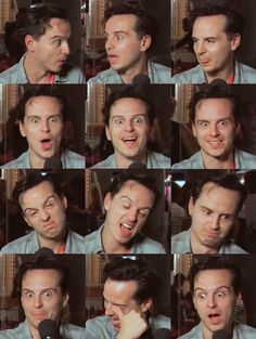 "Another Andrew Scott's Ridiculous Face Appreciation Post. His face is soooooOOOOooooOOOOooo chAAaangable."" xD lol I swear, that man IS Moriarty! Sherlock Holmes, Sherlock Fandom, Watson Sherlock, Sherlock Quotes, Martin Freeman, Johnlock, James Moriarty, Benedict And Martin, Celebrities"