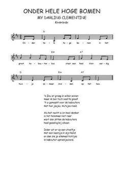 Téléchargez la partition gratuite de la chanson Onder hele hoge bomen, Chanson traditionnelle néerlandaise avec accords de guitare. Chanson traditionnelle