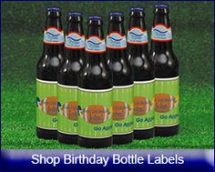 Shop Personalized Birthday Labels for a sports themed party favor from www.customfavors.com.