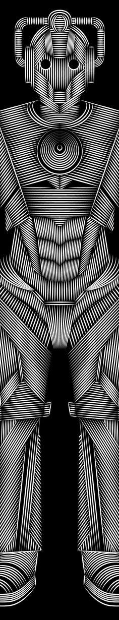 Cybermen by Patrick Seymour, via Behance