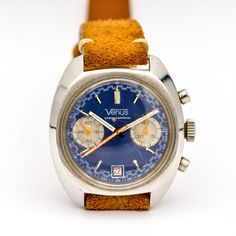 Venus Chronograph ref. Modern Watches, Vintage Watches, Watch Companies, Venus, Chronograph, Antique Watches, Vintage Clocks, Venus Symbol