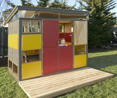 DIY Awesome Modern Playhouse