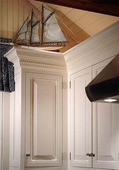 Inspirational Stacked Crown Molding Kitchen Cabinets