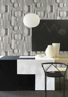 Modern Karibou - Marimekko Wall Coverings - 50 years of this Finnish textiles and pattern company. So classic, it's close to beyond price range for even DINKs Images Wallpaper, Graphic Wallpaper, Diy Wallpaper, Trendy Wallpaper, Designer Wallpaper, Wallpapers, Galerie Wallpaper, Wallpaper Designs, Wallpaper Online
