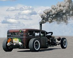 We bet this #RatRod can make a mean noise when it tears up the #track.