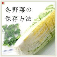 冬野菜の保存方法